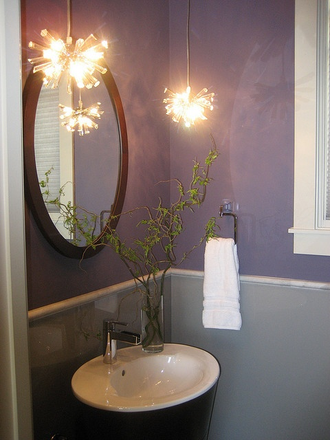 Charming Lavender Bathroom Decorating Ideas. See More. Purple And Gray Powder Room Part 32