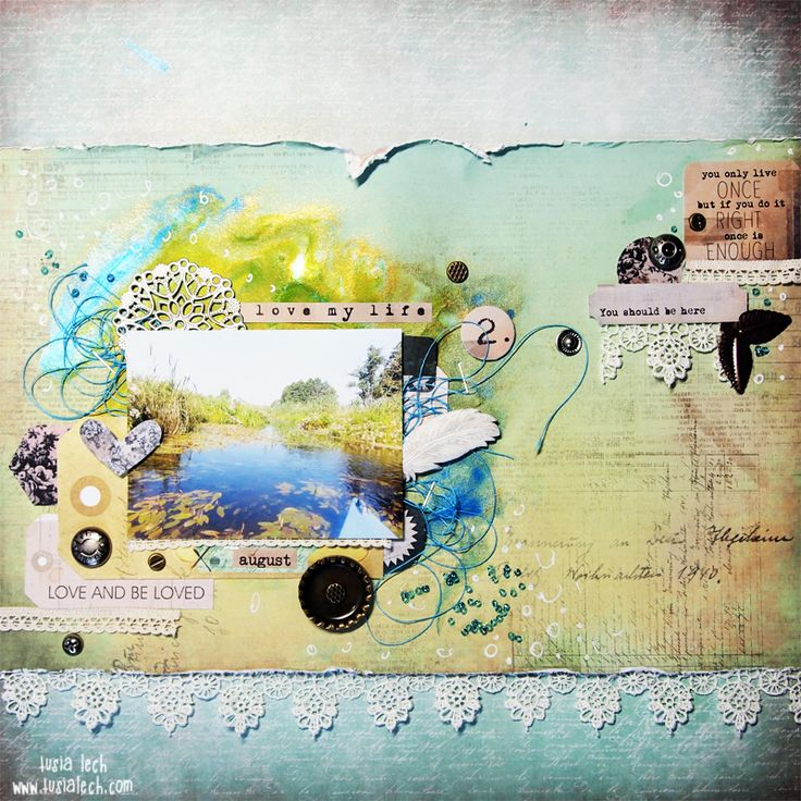 You should be here {Mixed Media Place} | Tusia Lech