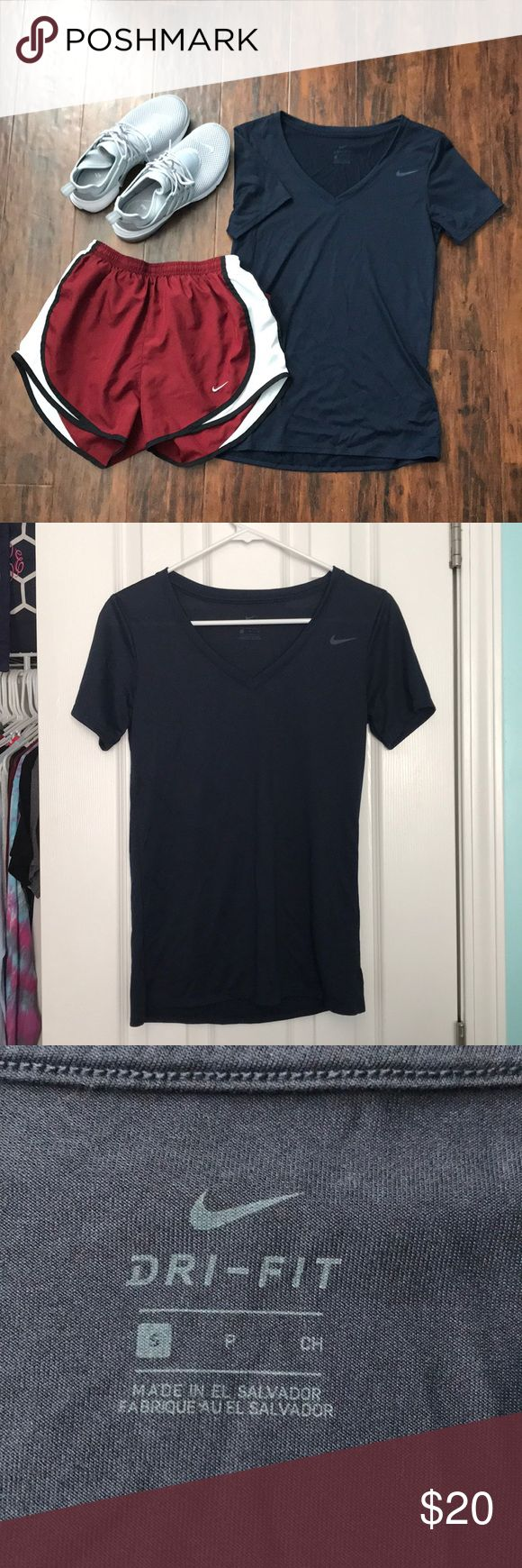 BOGO 1/2 OFF Nike Dri-fit vneck Navy dri-fit vneck, never worn, perfect condition ✨make an offer✨ feel free to comment if you have any questions 😊 ‼️ALL LISTINGS BUY ONE GET ONE HALF OFF❗️(of the two items, the less expensive item will be half off) just make a bundle and I'll re-price‼️ Nike Tops Tees - Short Sleeve