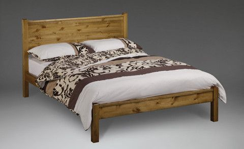 The Stavern Bed is very modern looking with its solid panel headboard and footboard, it can be supplied with a low end (as shown) or a high end. Reinforcement Features: Constructed from the Strongest Scandinavian Solid Pine, Chunky Heavy Duty Solid Pine Side Rails, Reinforcement Centre Bar with Support Legs, Heavy Duty Fixings& Extra Thick and Wide Solid Slats. Antique Wax, Antique, Chocolate Brown, Mahogany, Oak, Painted White or Painted Cream.