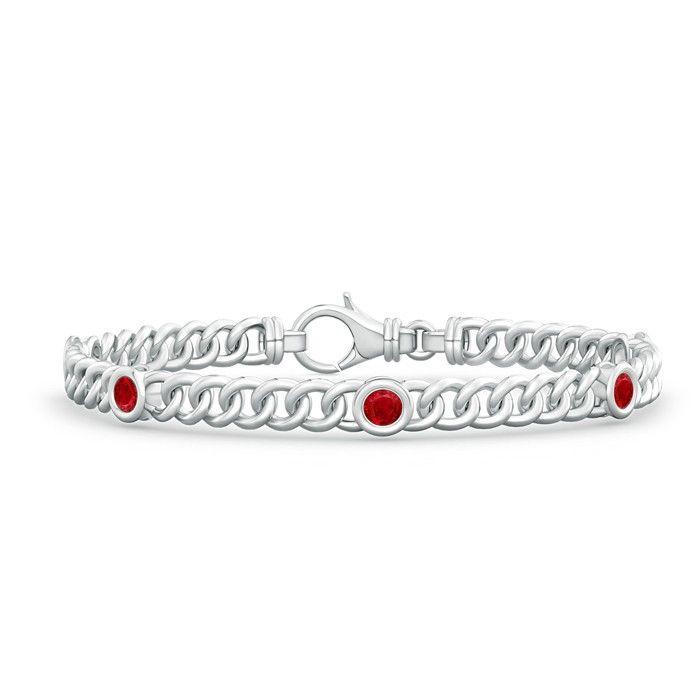 Angara White Gold Semi Bezel Emerald Tennis Bracelet t3zycR5w8