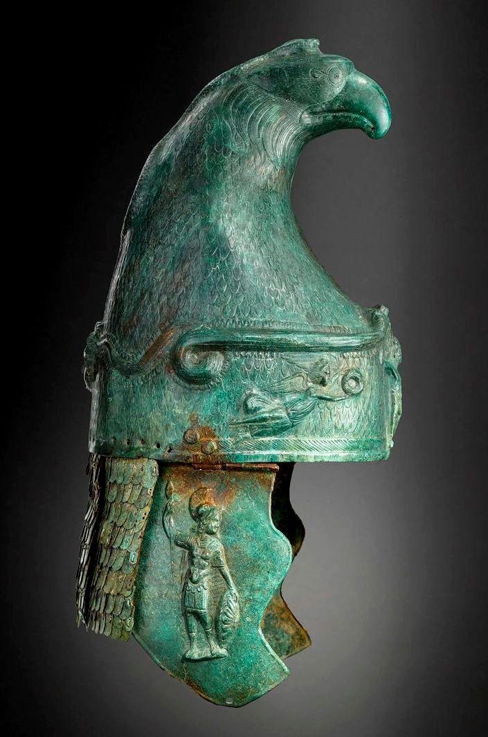Roman Cavalry Helmet, 100-250 A.D. CLICK to enlarge