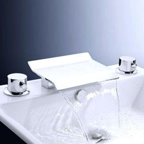 Waterfall Wall Mount Contemporary Bathroom Sink Tap (Chrome Finish) T6011  http://www.tapforyou.co.uk/waterfall-taps/waterfall-wall-mount-contemporary-bathroom-sink-tap-chrome-finish-t6011