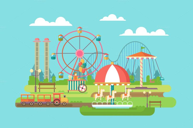 Amusement park by Kit8.net on Creative Market
