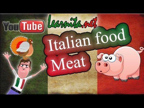 Italian food names - Meat - Learn italian language - YouTube