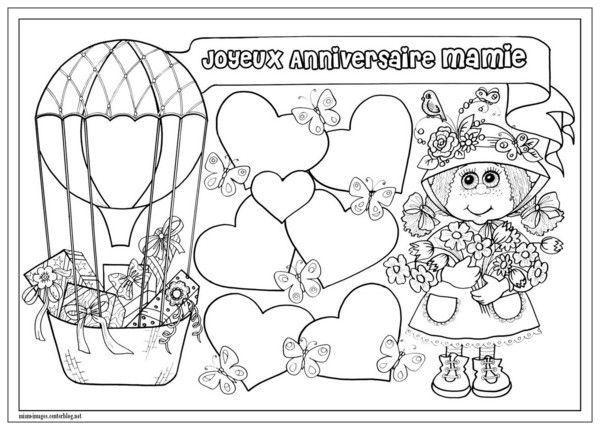 Anniversaire Coloriage Joyeux Anniversaire Mamie Anniversaire Mamie Coloriage Anniversaire Coloriage