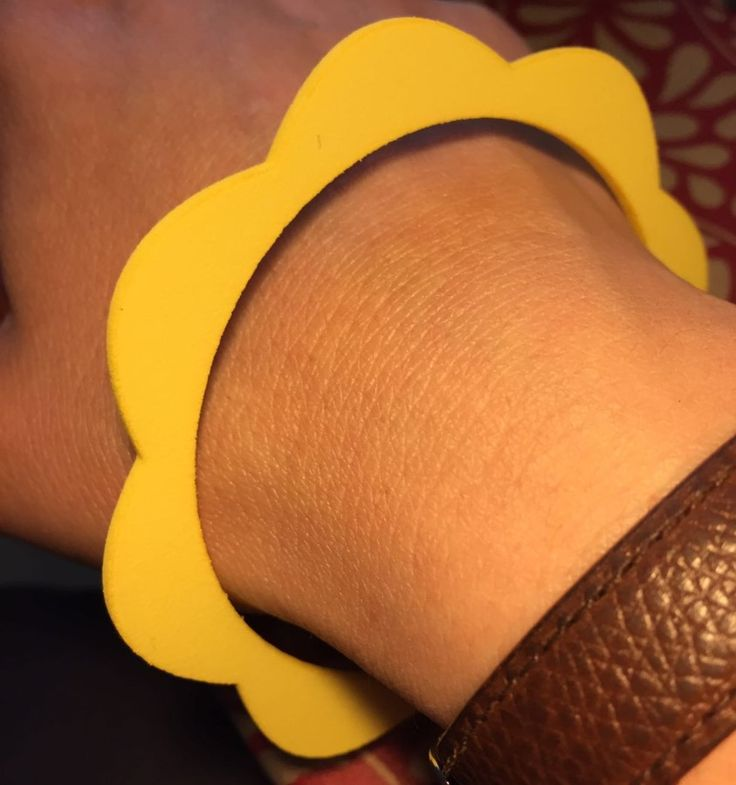 Flower Power Collection II Essential flower silhouette #bangle in #yellow #strong and #flexible #plastic. An #italian #design #jewellery #jewelry #design #ootd #adornment #inspiration #summer #design #gioielli #jewels #joyas #bangle #bangles