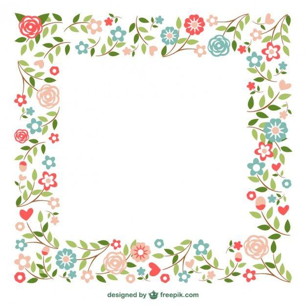 Ornemental cadres de fleurs
