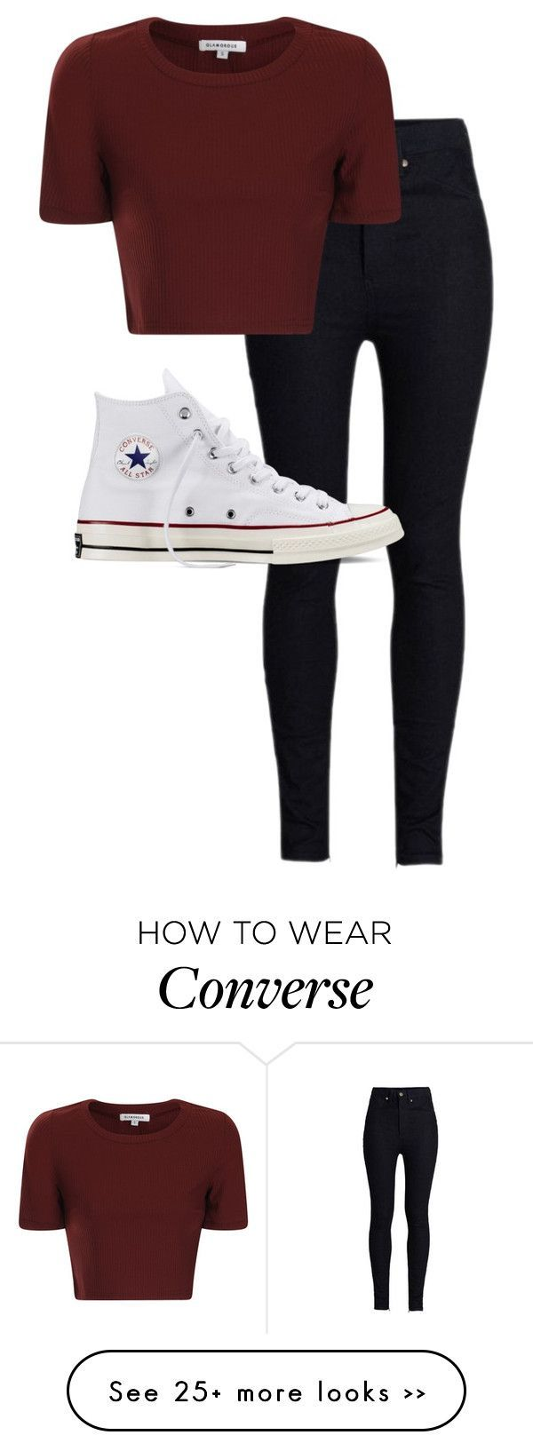 """Untitled #235"" by kenideehaze on Polyvore featuring Rodarte, Glamorous and Converse"