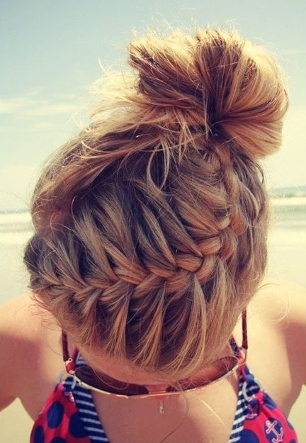 Life's a Beach with this braided/bun up-do!