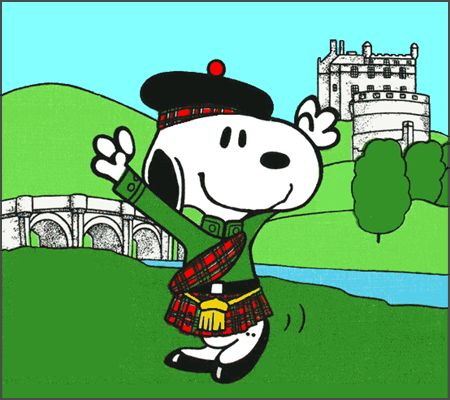 Snoopy in Scotland