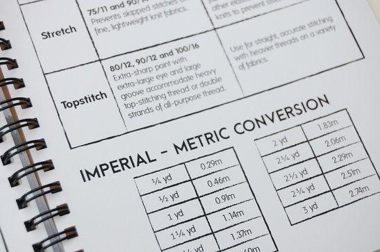 Maker's Workbook, sewing journal: Technical data!