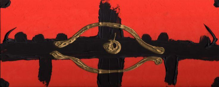 """Dipinto omaggio a """"Re Mida"""" dei Tintinnabula. Acrilici su legno."""