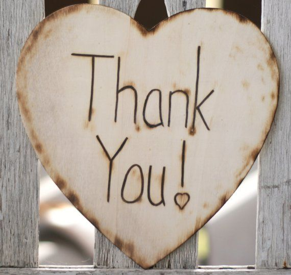 Rustic Thank You Heart sign