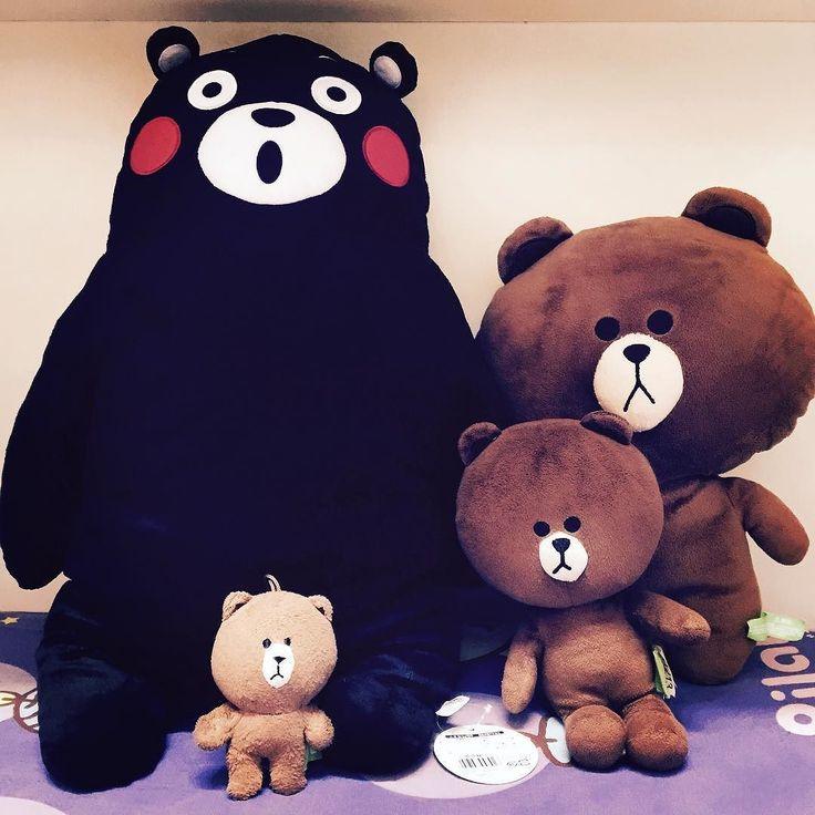 新朋友 叫包公 #kumamon #brown #linefriends #line by aryanwong