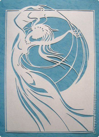Картина панно рисунок Вырезание Moon Goddess - The Veils Of Isis_Lois Cordelia Бумага фото 4