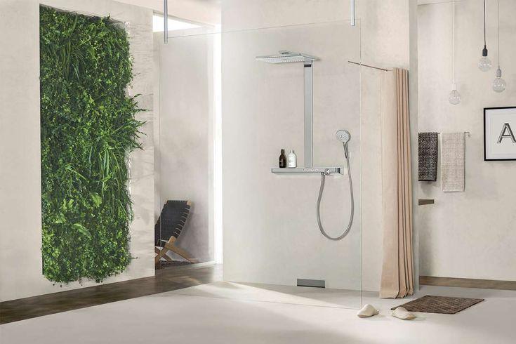 douche italienne parois verre transparent Hansgrohe