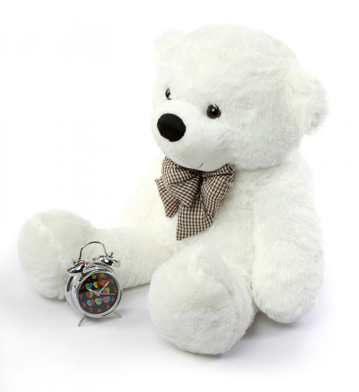 Giant Teddy  - Coco Cuddles Soft and Huggable Plush White Teddy Bear 38in, $64.90 (http://www.giantteddy.com/coco-cuddles-soft-and-huggable-plush-white-teddy-bear-38in/)