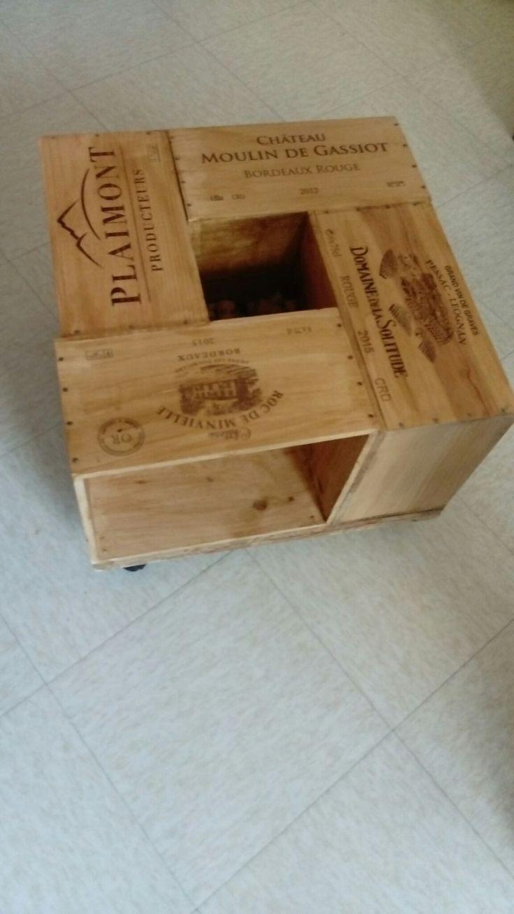 table basse avec caisse de vin faite maison d co pinterest caisse a vin table basse et. Black Bedroom Furniture Sets. Home Design Ideas