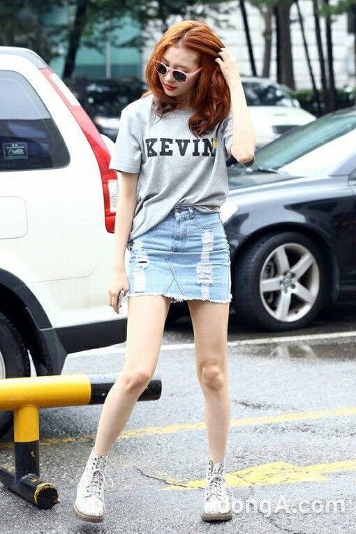 korean style ,korea fashion ,denim skirt ,jeans ,t-shirt