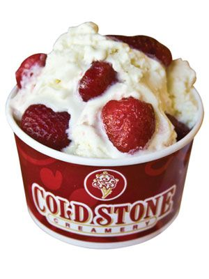 AT COLD STONE CREAMERY...Sweet Cream Ice Cream!