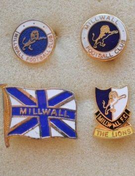 Редкие, очень старые, эмалевые знаки английский профессиональных футбольных клубов:ФК Миллуолл