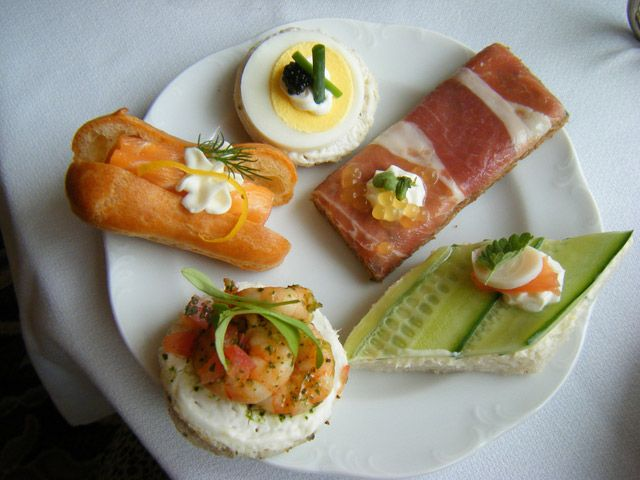An assortment of tea sandwiches