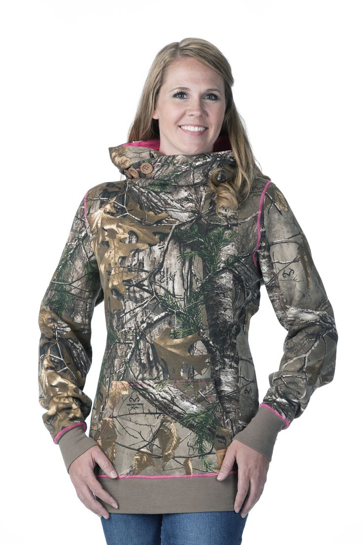 DSG Hunting Side Button Women's Hunting Hoodie-Realtree Xtra/Pink