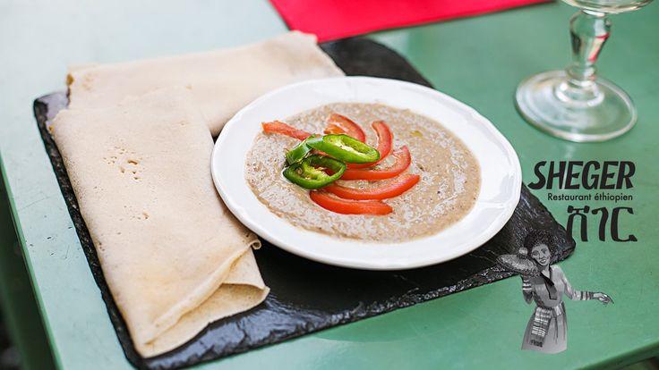 Azifa, au restaurant Sheger, restaurant de cuisine éthiopienne à Paris. Venez nombreux!