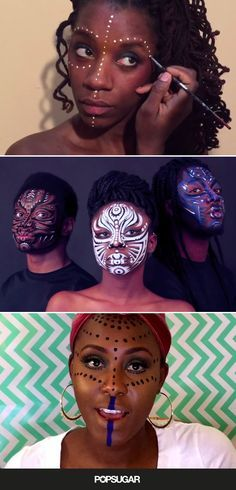 If you're looking to get in touch with your culture, turn to YouTube — African tribal makeup tutorials are a thing, and they're beautiful.