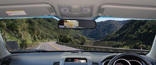 Rearview mirror reversing camera