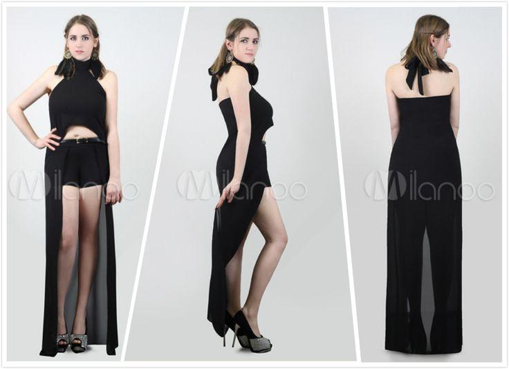 Top+Pantaloni Corti Neri per donna.