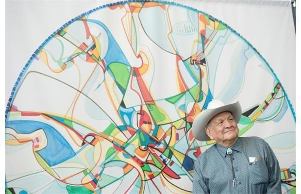 Acclaimed Alberta artist Alex Janvier gets $700,000 arena public art commission #yegarts