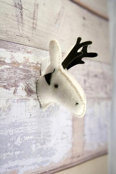 oh deer! ♥Wall Art, Art Crafts, Felt Head, Reindeer Felt, Kids Room, Reindeer Head, Reindeer Christmas, Christmas Holiday, Felt Reindeer