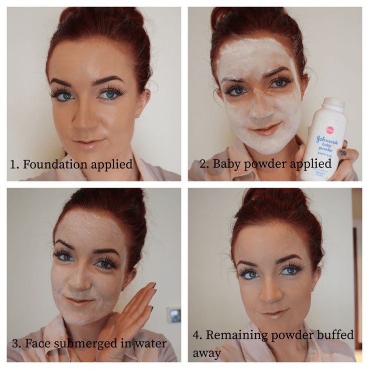 Jamsu, Korean Beauty, Beauty Trends, Uses for Baby Powder, Baby powder on face, korean makeup, makeup trends, diving, makeup diving