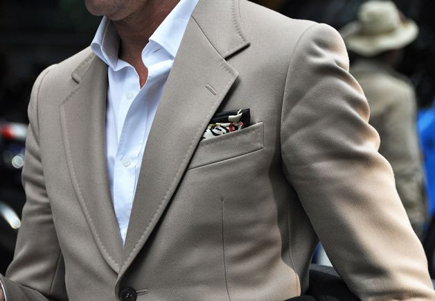 A very nice jacket and pocket square