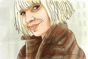 How to draw Sia, Sia Kate Isobelle Furler