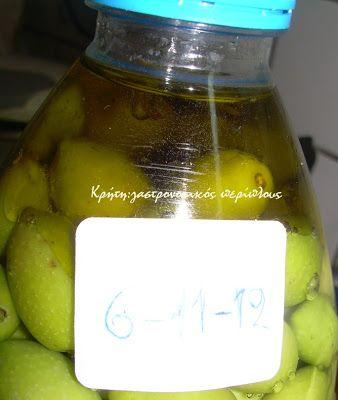 Κρήτη:γαστρονομικός περίπλους: Πράσινες ελιές στο ...μπουκάλι!