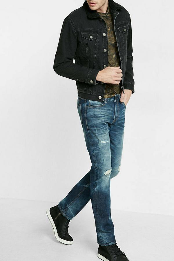 Black Denim Jacket Outfits For Men Black Denim Jacket Outfit Denim Jacket Men Outfit Jeans Outfit Casual