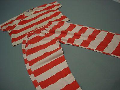 Convict Prison Inmate Jail Prisoner Costume Orange 2 piece set 3XL
