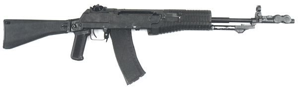 AN-94 assault rifle, buttstock in the open position