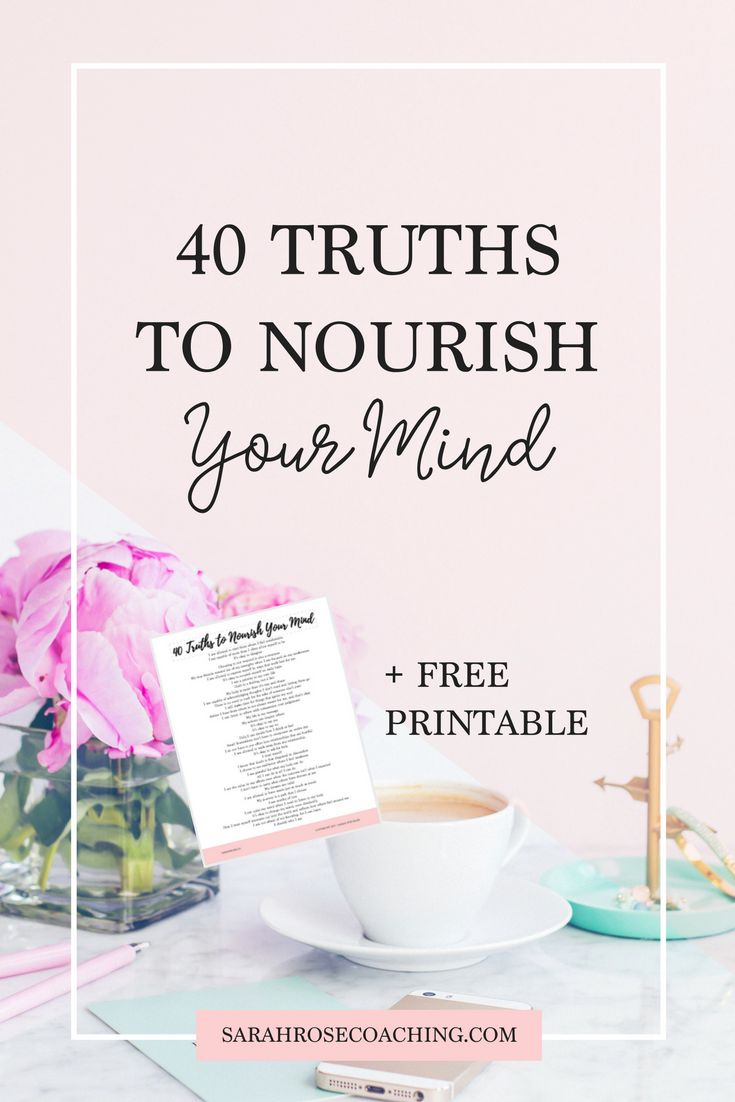 Sometimes we all need to be reminded of the simple truths within us. Read these 40 truths to nourish your mind and bring you back to happiness, ease, and gratitude. Click through to download your free printable!
