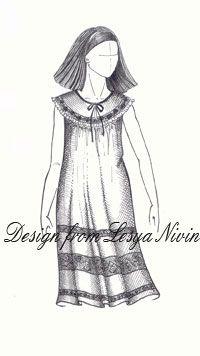 Выкройка ночной сорочки (Выкройки своими руками) Пошаговое построение. Помимо своего прямого предназначения одежда должна приносить эстетическое удовольствие, даже если мы говорим о ночной сорочке.