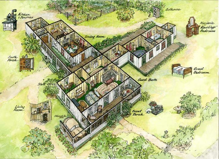 72 best marjorie kinnan rawlings cross creek florida for House map drawing