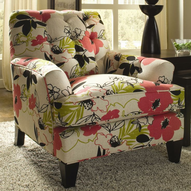 In Another Fabric Vincent Contemporary Upholstered Club Chair With Tufted Back By Sam Moore