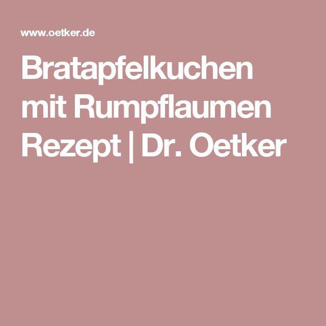 Bratapfelkuchen mit Rumpflaumen Rezept   Dr. Oetker