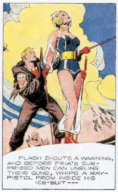 Flash Gordon y la reina de Frigia. Alex Raymond.