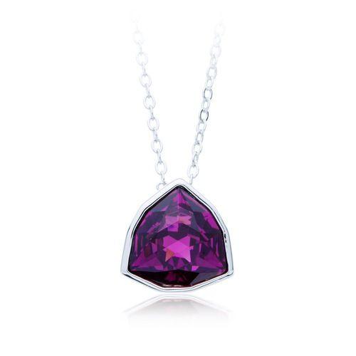 Trillion Brief Pendant with Amethyst Swarovski® Crystal