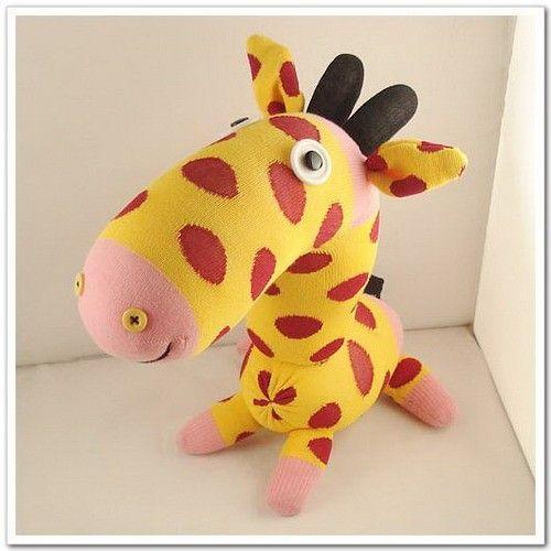 Handmade Sock Giraffe Stuffed Animal Doll Baby Toys. $19.99, via Etsy.