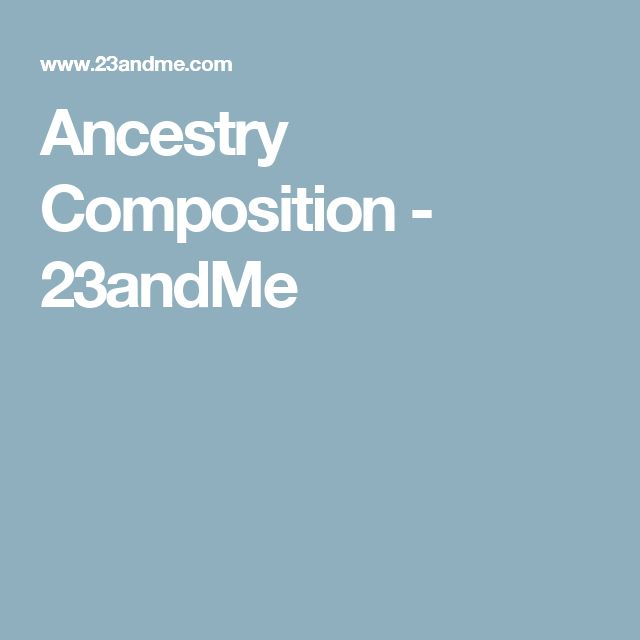 Ancestry Composition - 23andMe